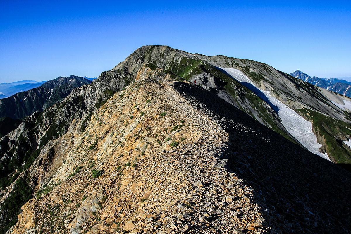 杓子岳の尾根