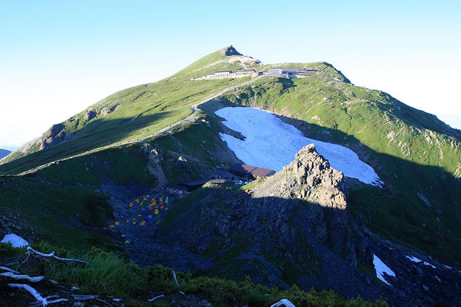 丸山から見る白馬岳