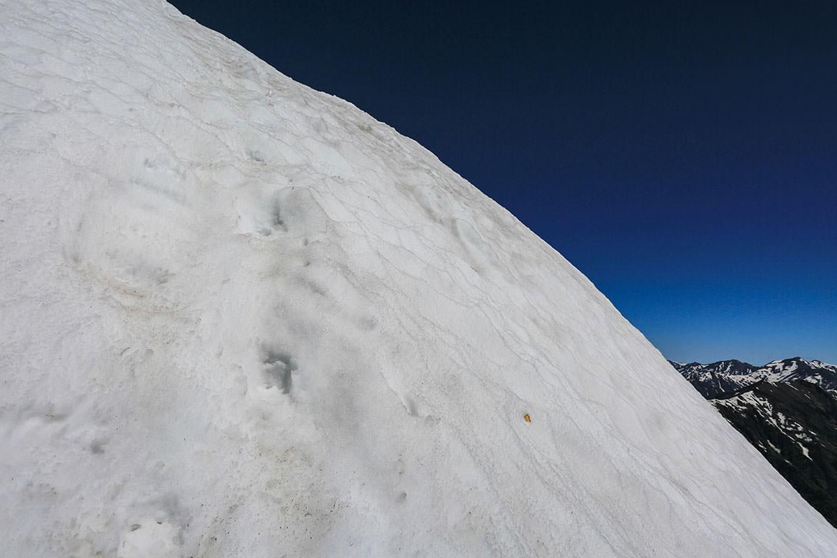 【針ノ木岳】登山百景-「あの雪」はとにかく急だった