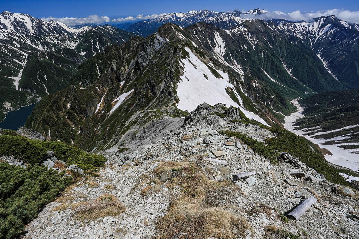 【針ノ木岳】登山百景-スバリ岳方面へ下りる