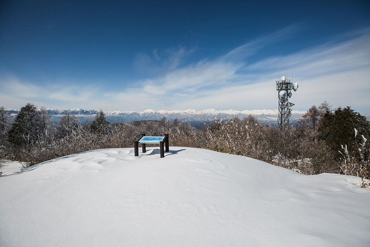 【聖山】登山百景-足跡が無く眺めは良い