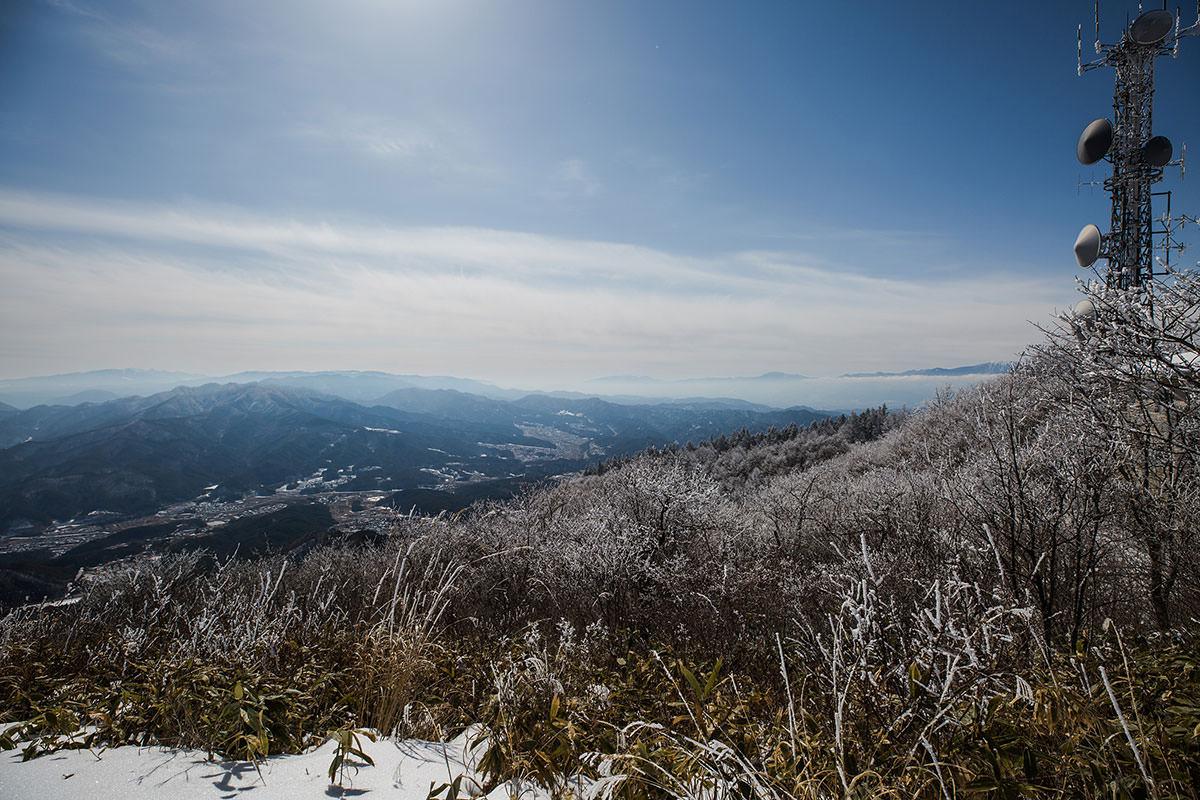 乗鞍岳と八ヶ岳方面