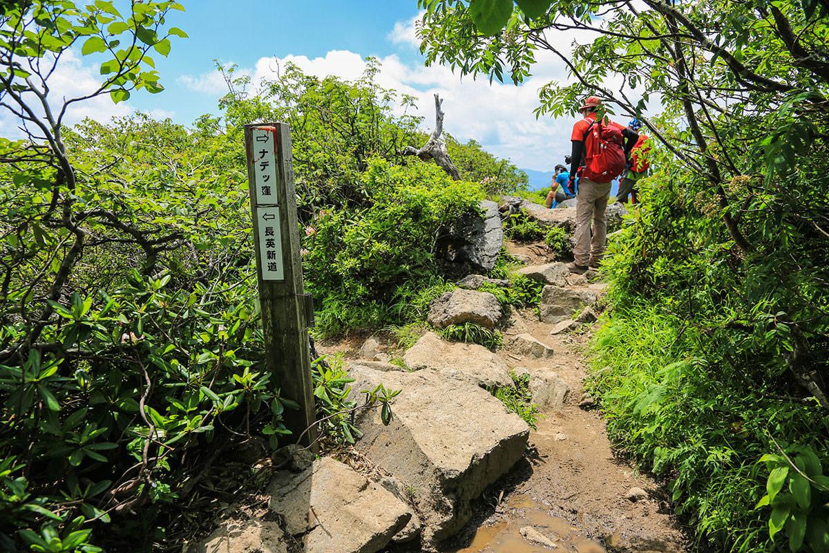 【燧ヶ岳】登山百景-ナデッ窪へ
