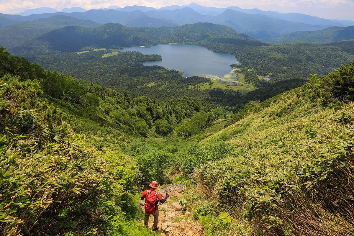 【燧ヶ岳】登山百景-急な下り坂