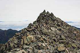 山頂のケルン