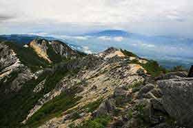 八ヶ岳は雲の中