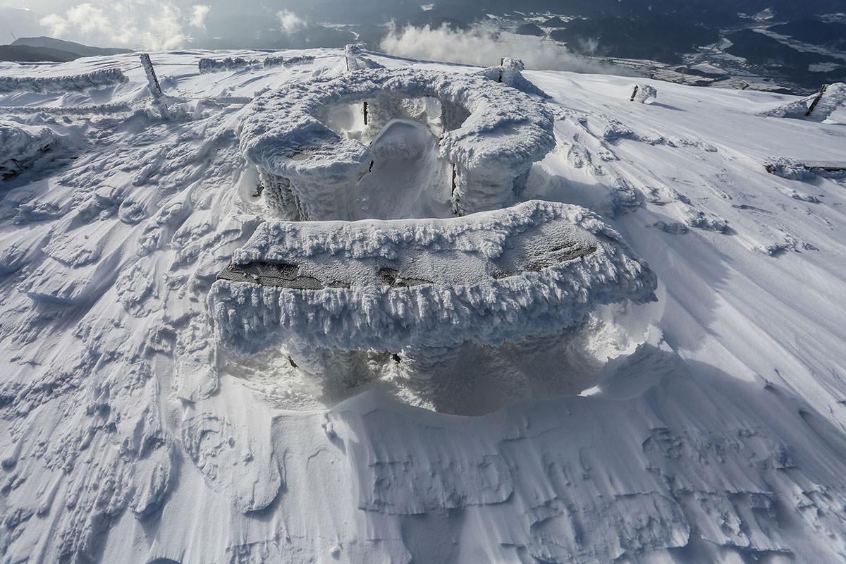 【伊吹山】登山百景-いろいろ雪