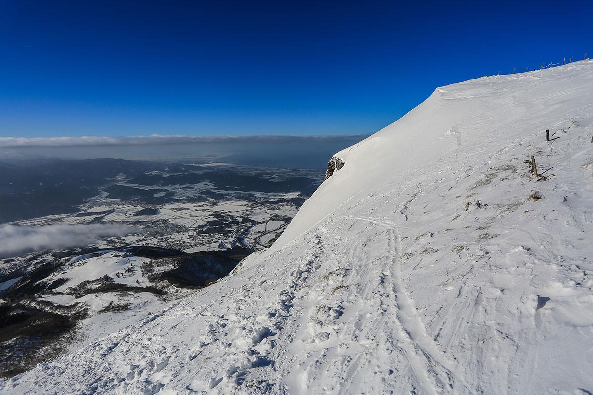 【伊吹山】登山百景-雪山からの琵琶湖