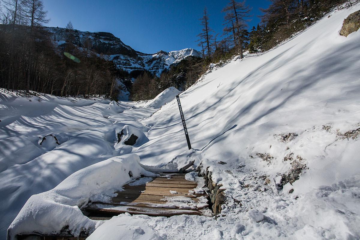 【硫黄岳 本沢温泉】登山百景-野天風呂から硫黄岳が見える