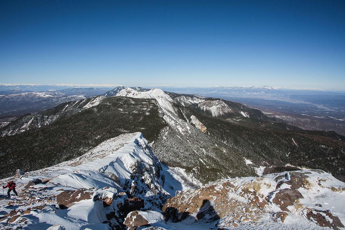 【硫黄岳 本沢温泉】登山百景-火山の崖も大迫力