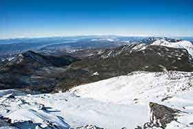 北八ヶ岳と霧ヶ峰と北アルプス