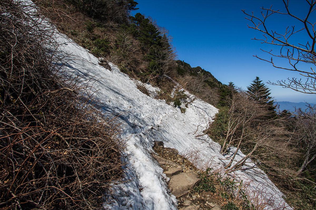 雪のトラバース