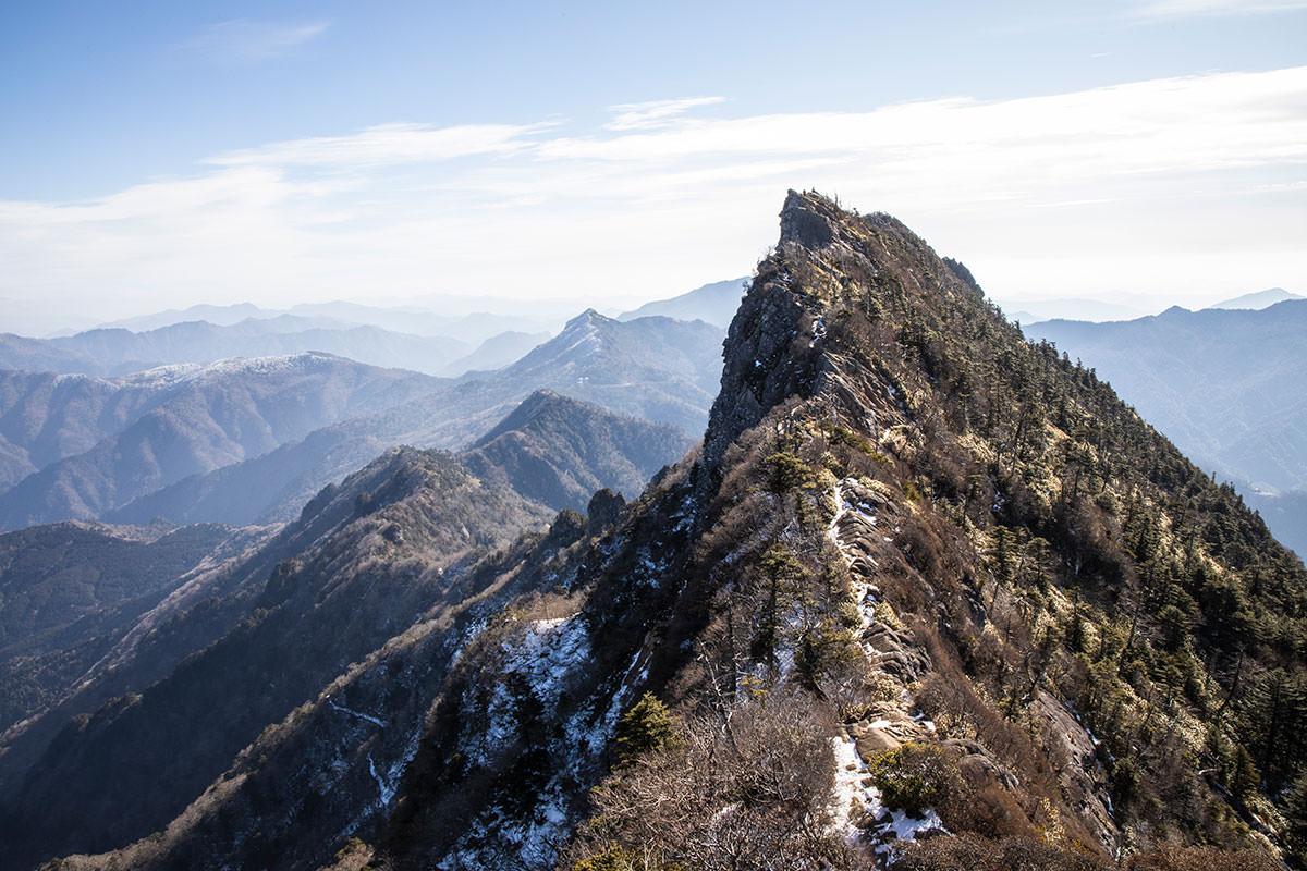 石鎚山といえばこの眺め
