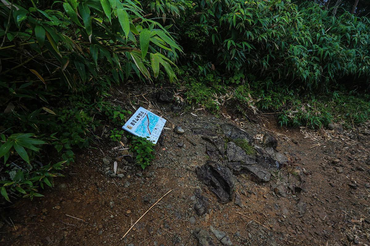 【岩菅山 聖平の上】登山百景-中間地点に到着