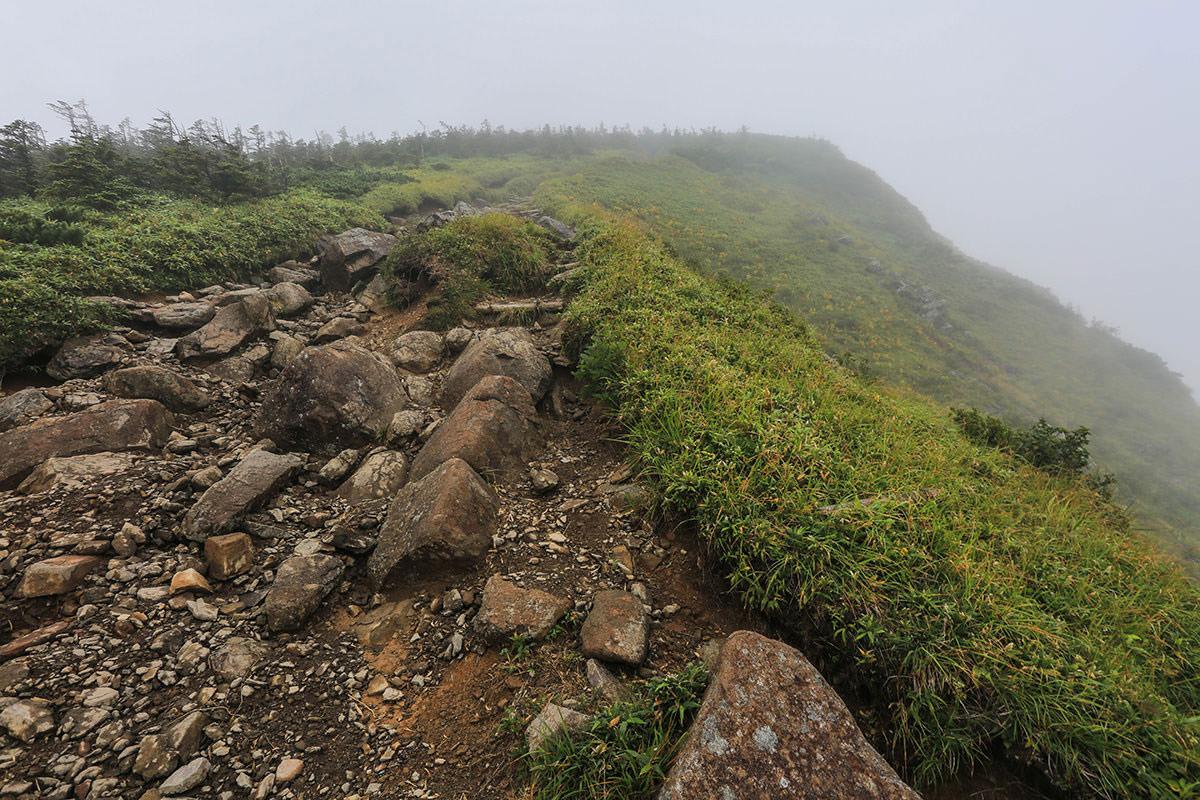【岩菅山 聖平の上】登山百景-岩菅山への岩の坂