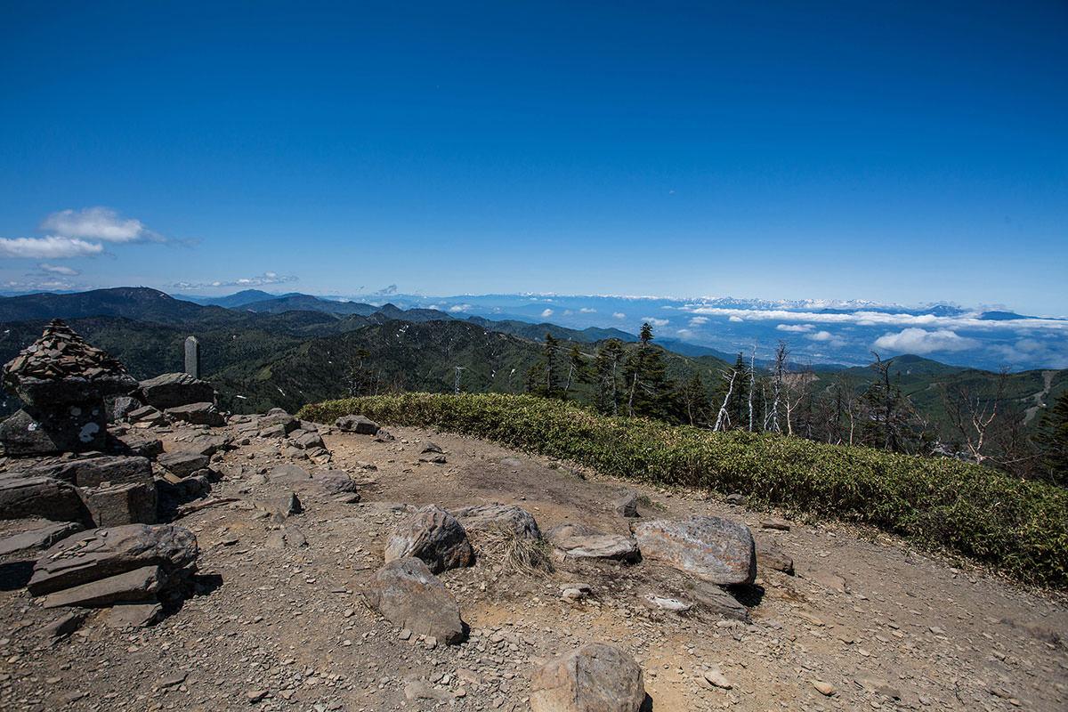【岩菅山 裏岩菅山縦走】登山百景-北アルプスもよく見える