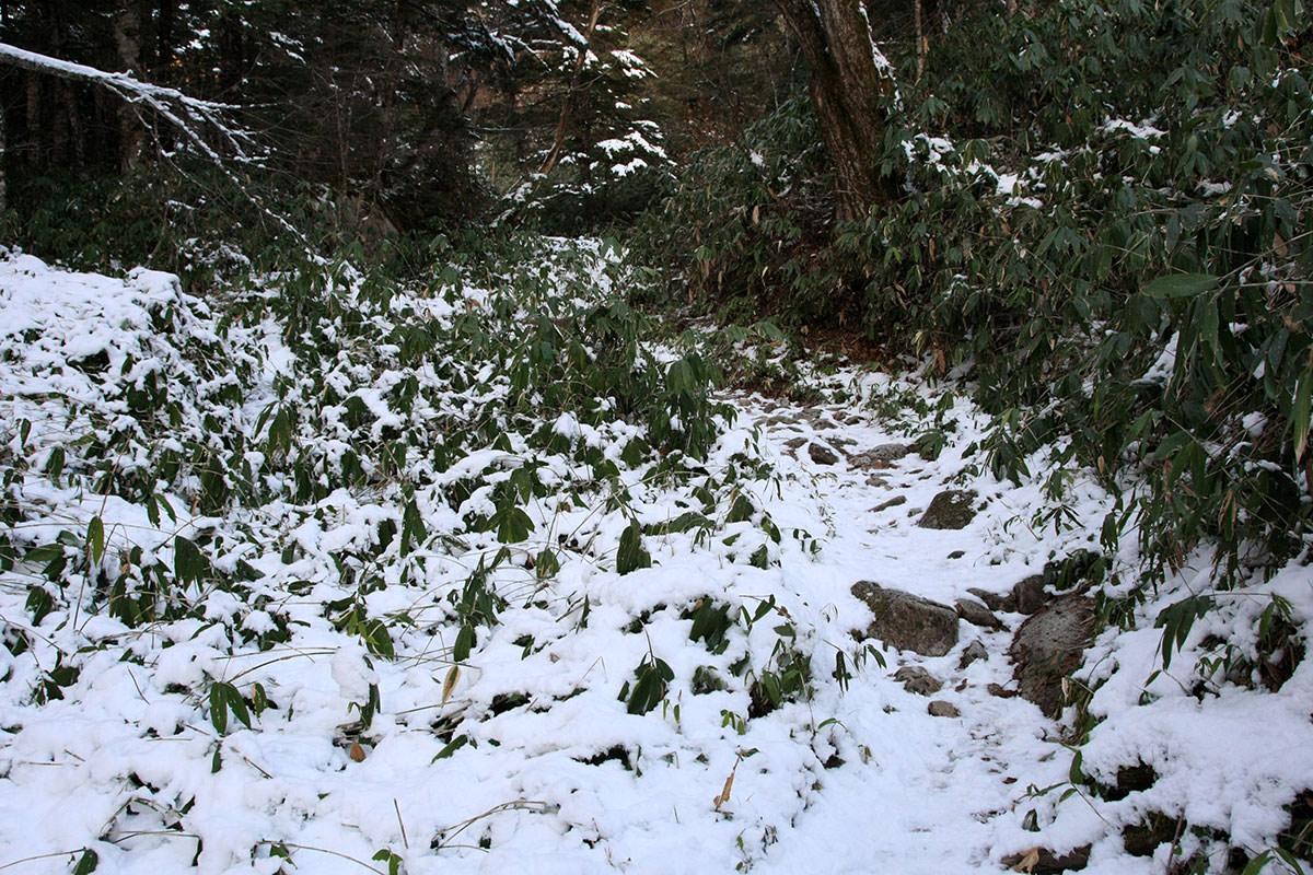 【常念岳】登山百景-さらに雪