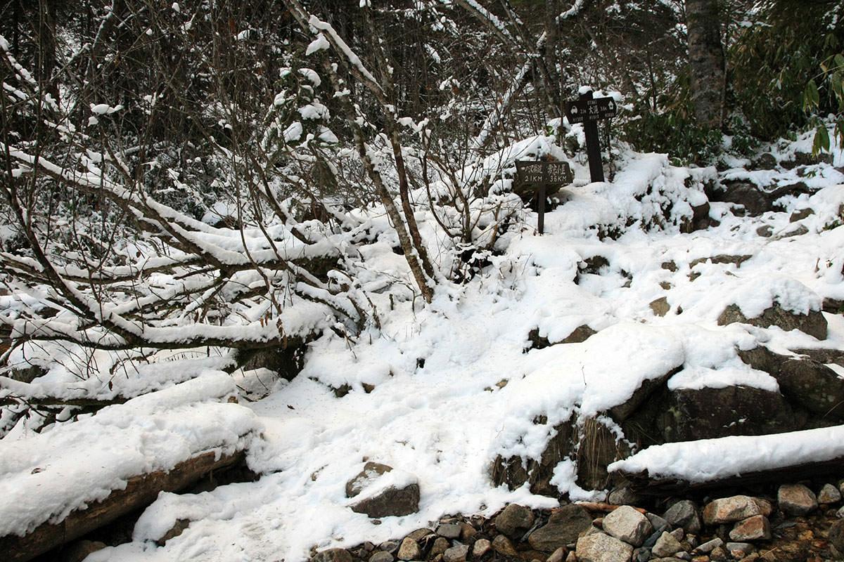 【常念岳】登山百景-大滝に着いた