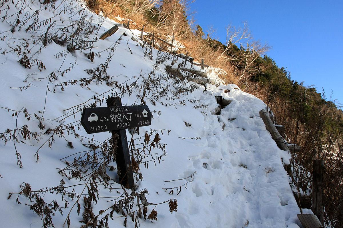 【常念岳】登山百景-胸突八丁ここから