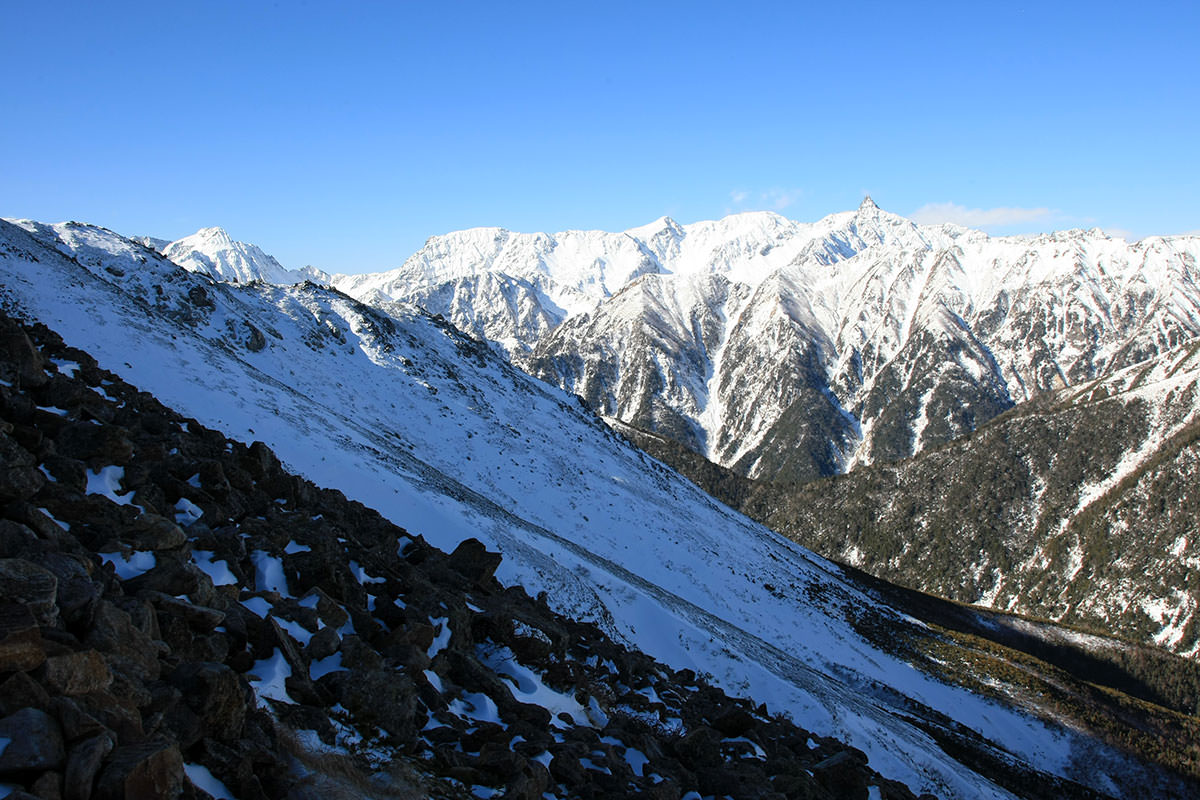 【常念岳】登山百景-景色は良いけど風が強い