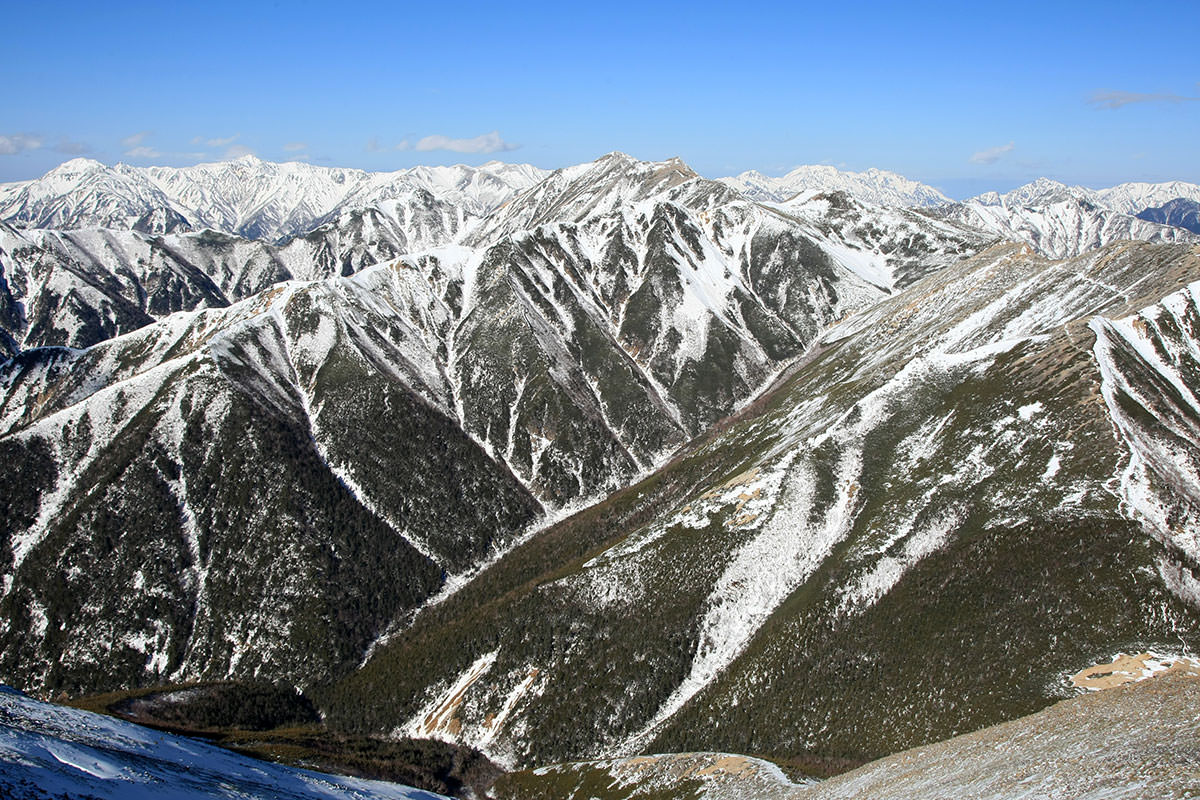 【常念岳】登山百景-北側の眺め