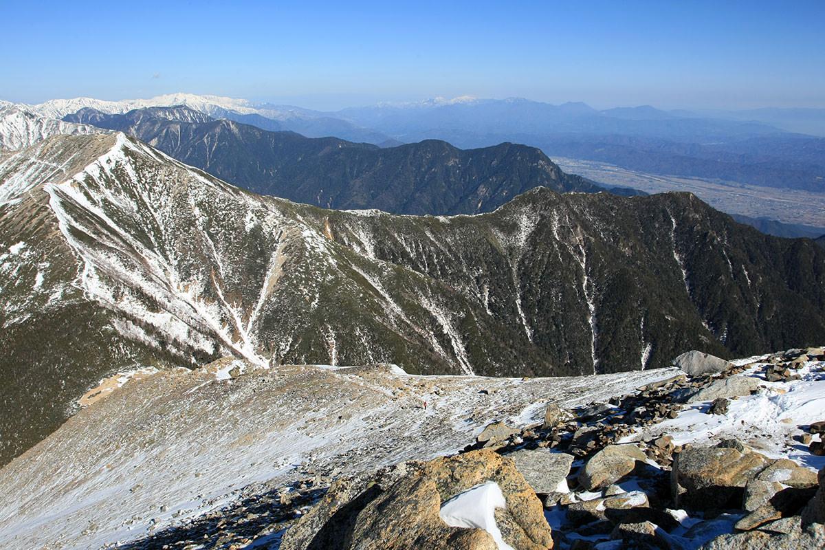 【常念岳】登山百景-後立山と妙高方面