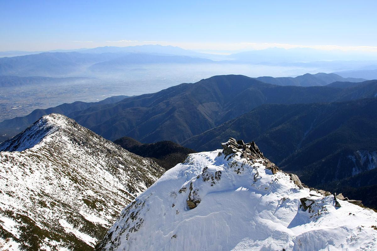 【常念岳】登山百景-うっすら富士山