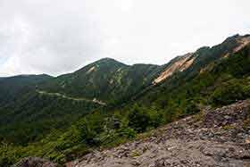 篭ノ塔山まで見渡せる