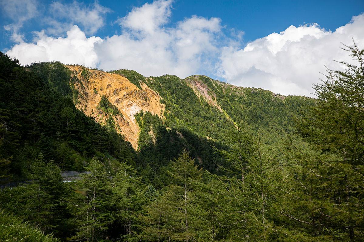 水ノ塔山からの稜線を見上げてみる