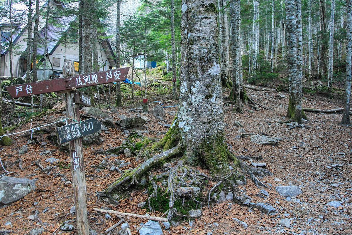 北沢峠から甲斐駒ヶ岳への登山口