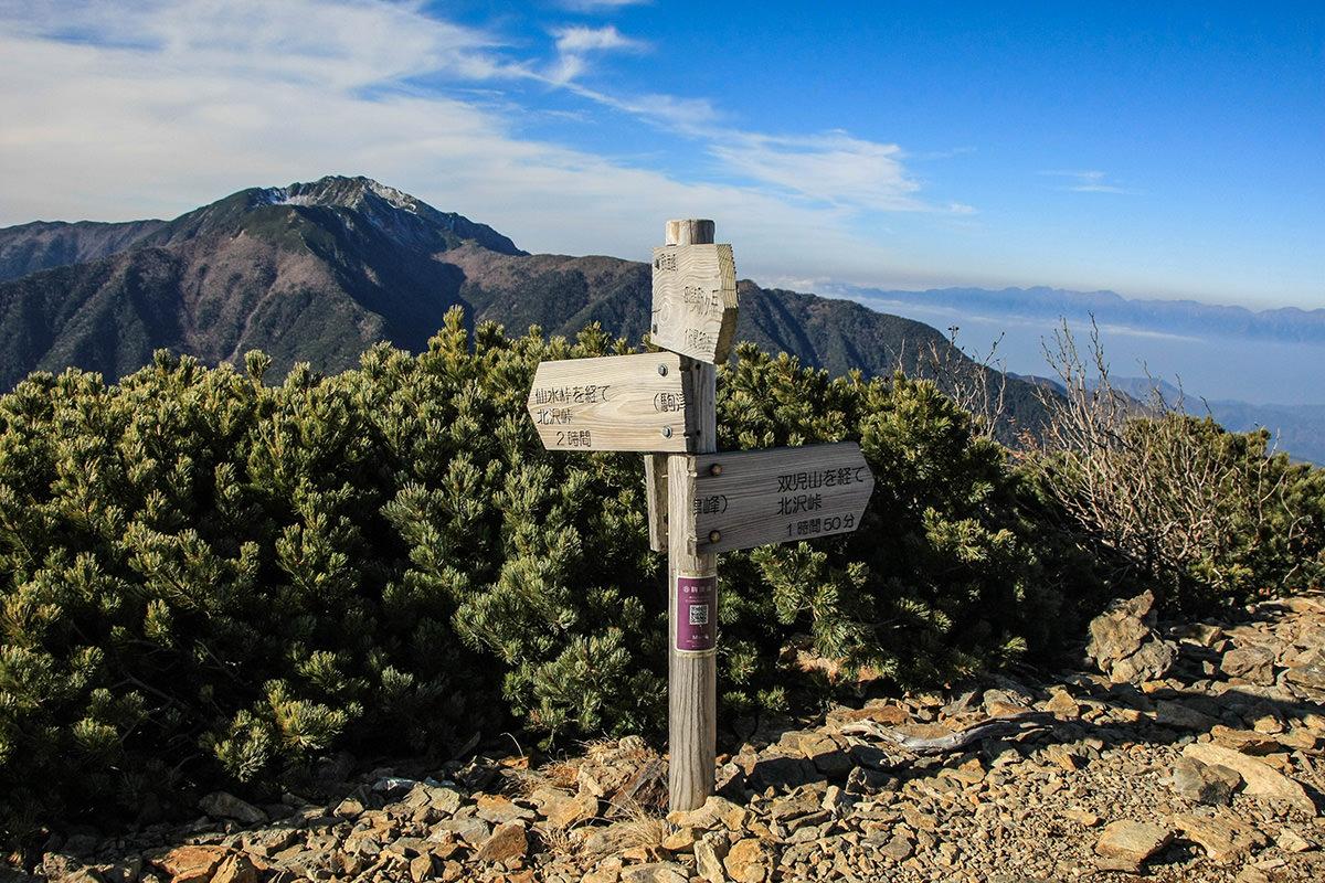 仙水峠着いた 仙水峠着いた。 双児山を越えると土と落ち葉の足元は、岩と砂利のガレ場に変... 1