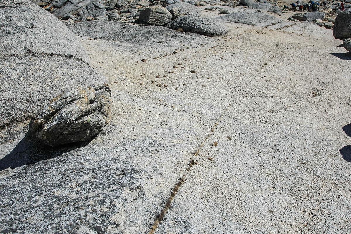 さらに細かい石のライン