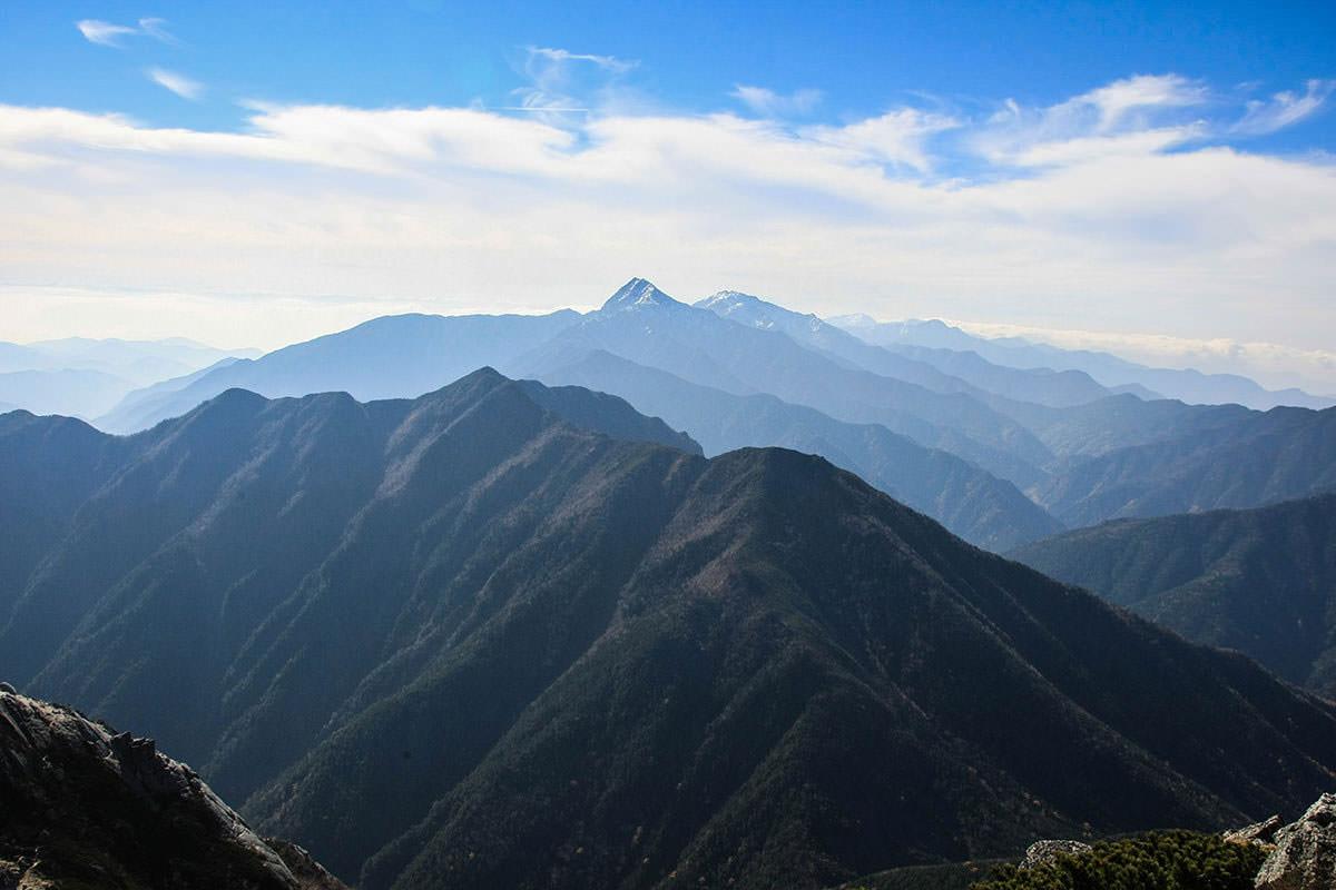 山頂から北岳