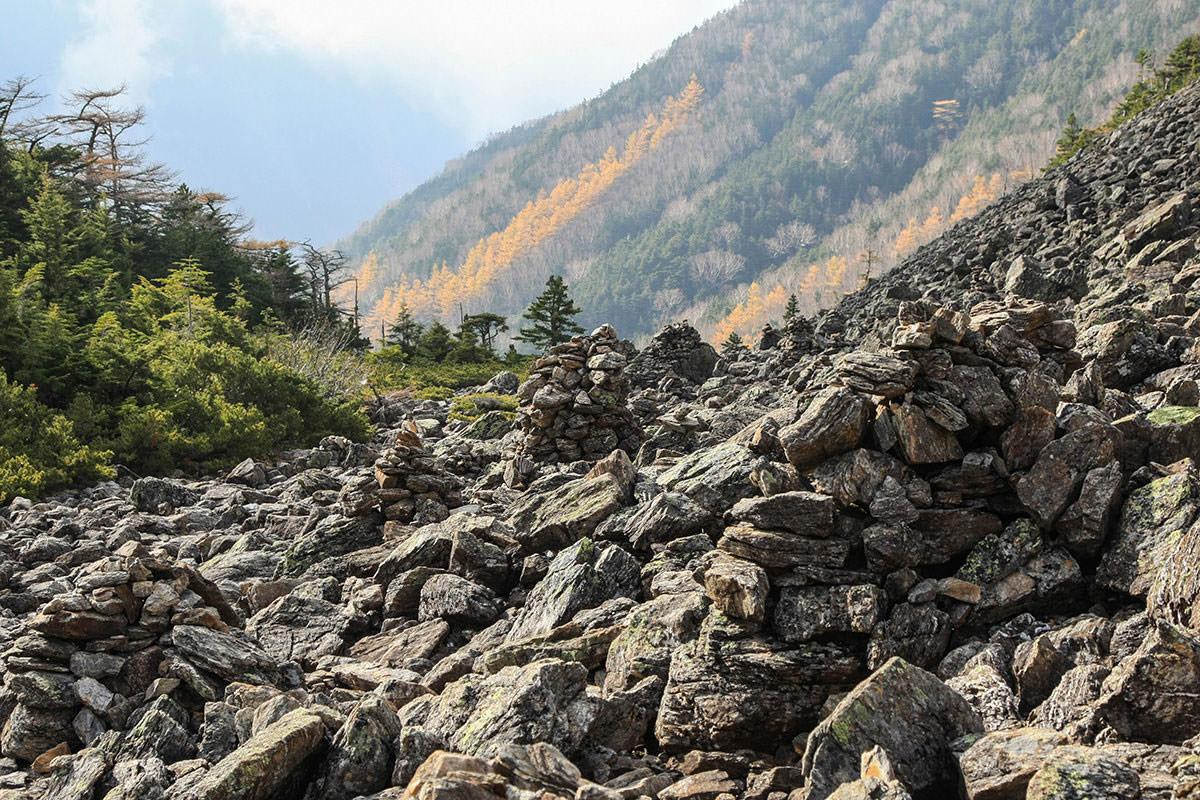 熔岩のゴツゴツルート