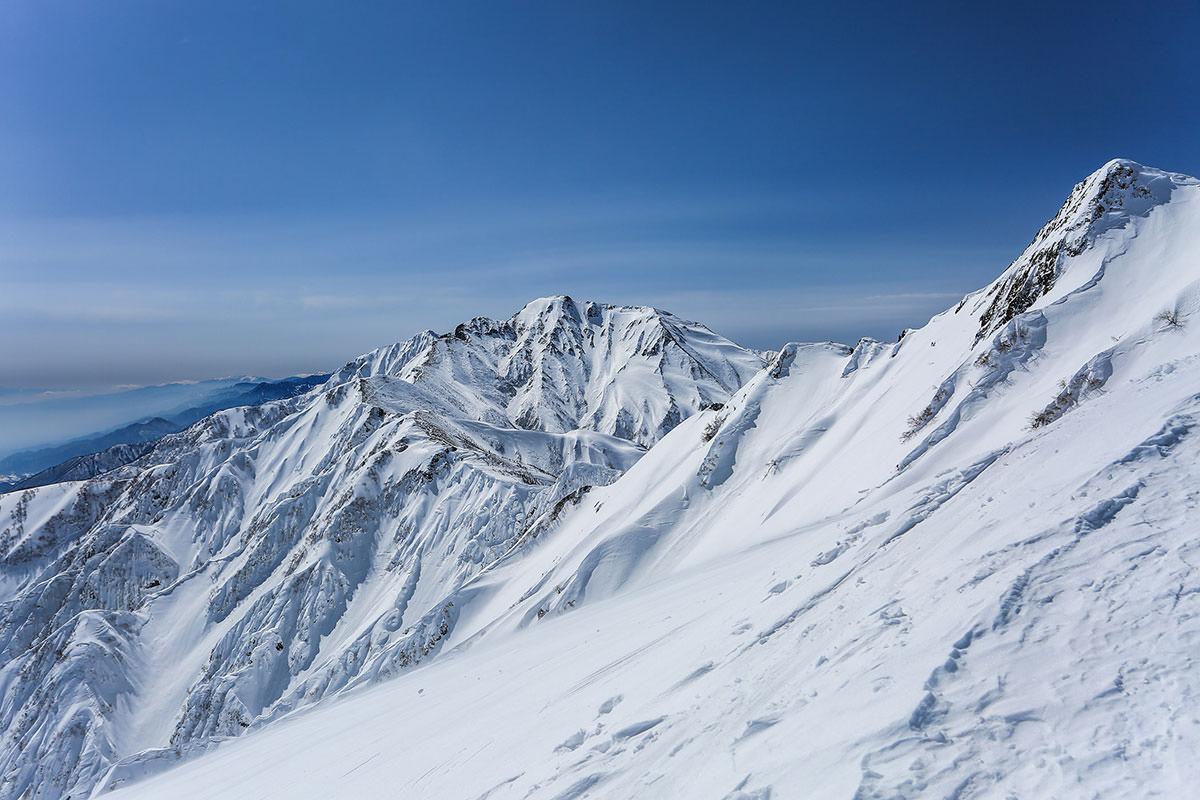 五竜岳が目線と同じくらいに