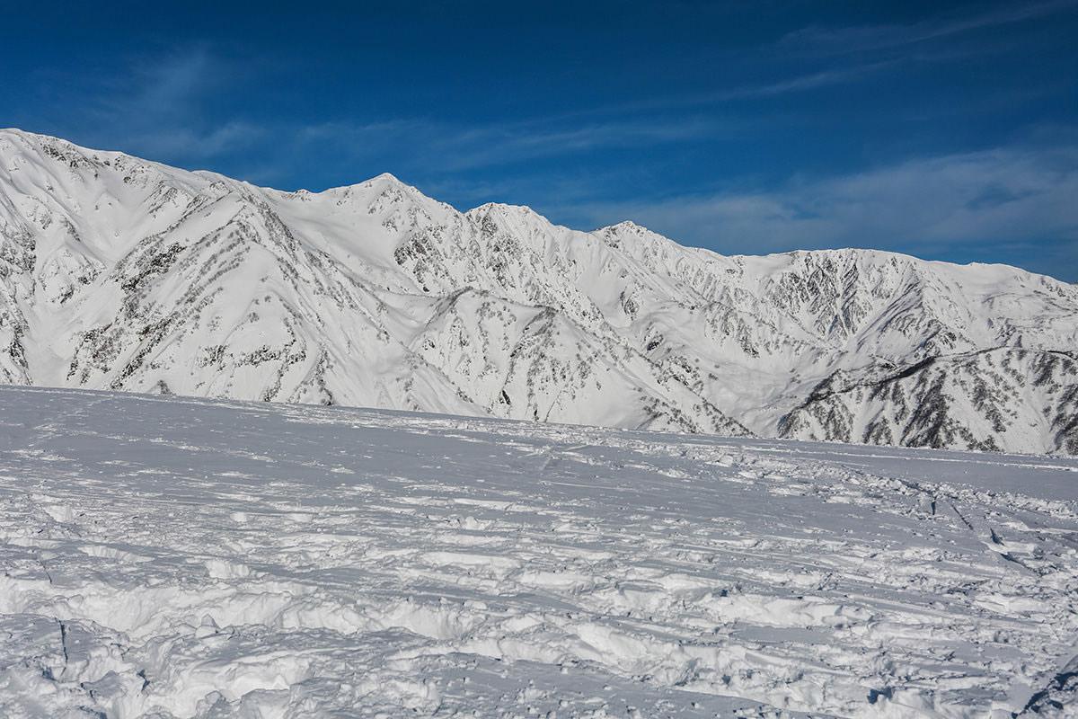 唐松岳-ずっと白馬三山が見える