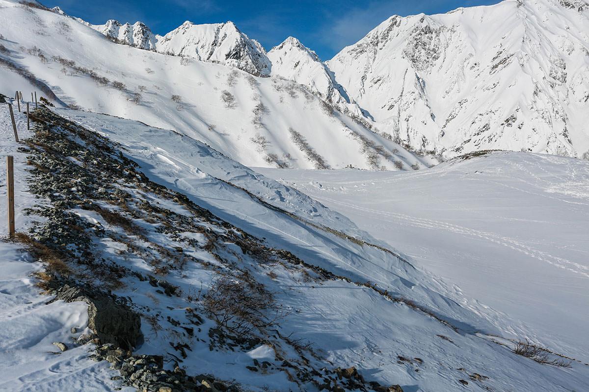 唐松岳-八方池は雪の中