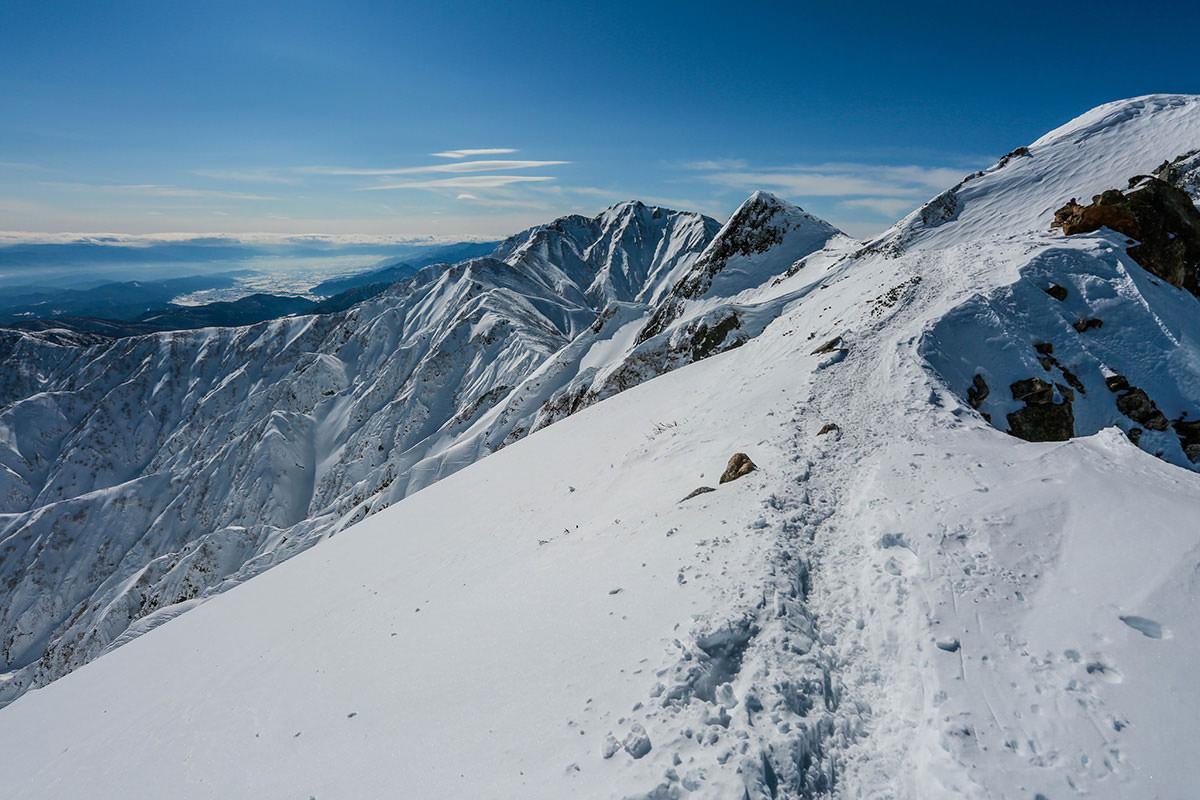唐松岳-ひたすら五竜岳を見て歩く