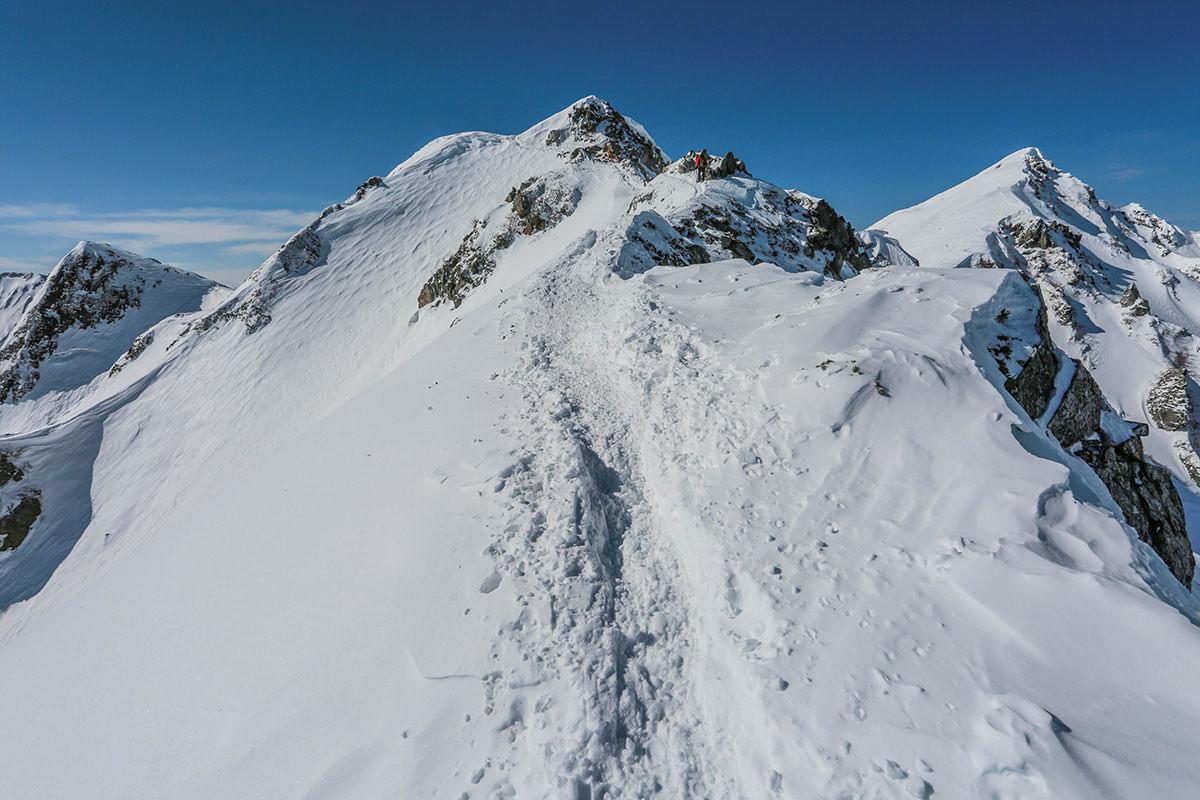 唐松岳-踏み跡に沿って登る