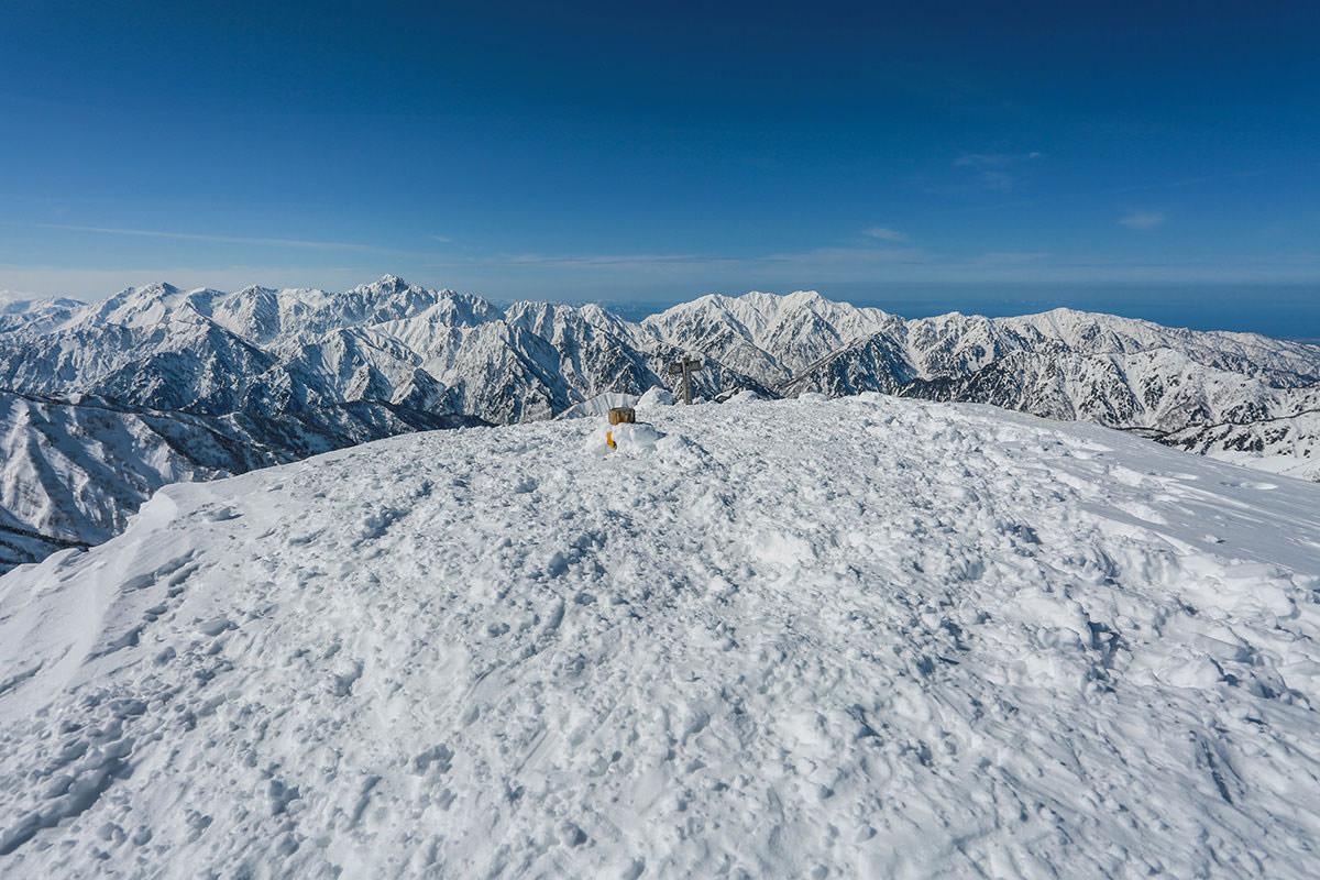 唐松岳-唐松岳山頂
