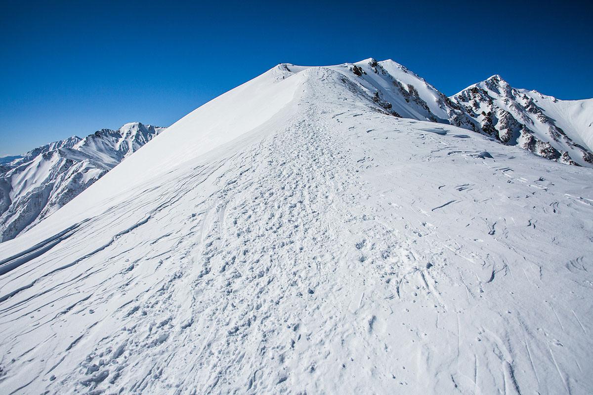 【唐松岳 八方尾根】登山百景-まだ登り坂は続く