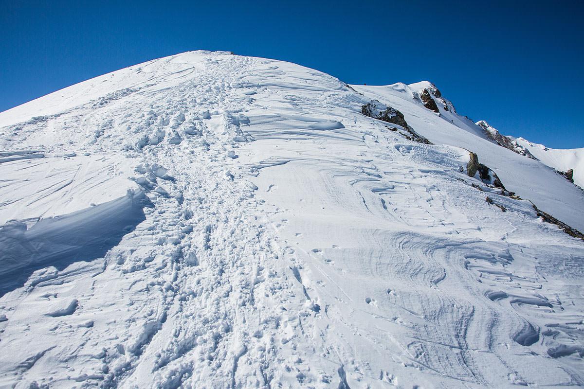 【唐松岳 八方尾根】登山百景-けっこう急斜面