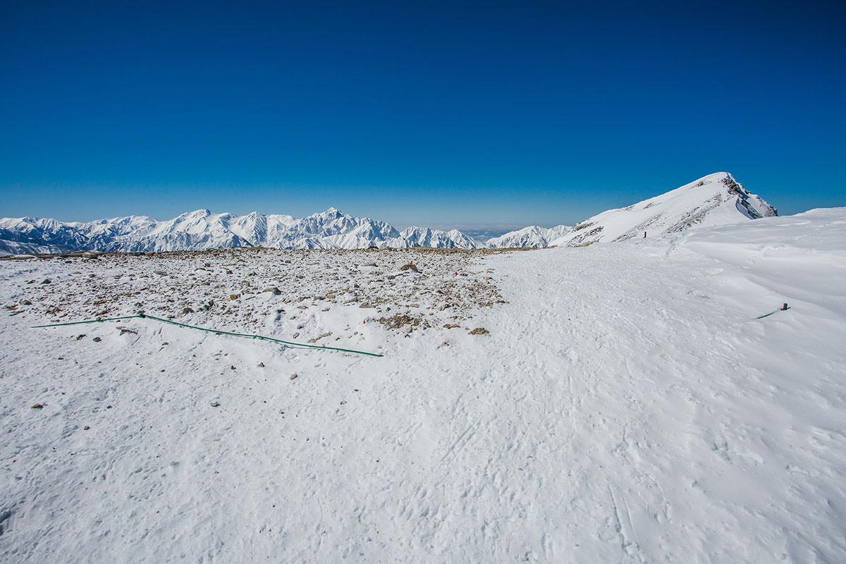 【唐松岳 八方尾根】登山百景-剱・立山が見えてきた