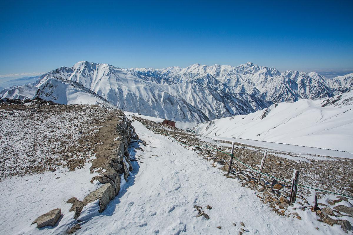 【唐松岳 八方尾根】登山百景-上に立つと眺望がどーん