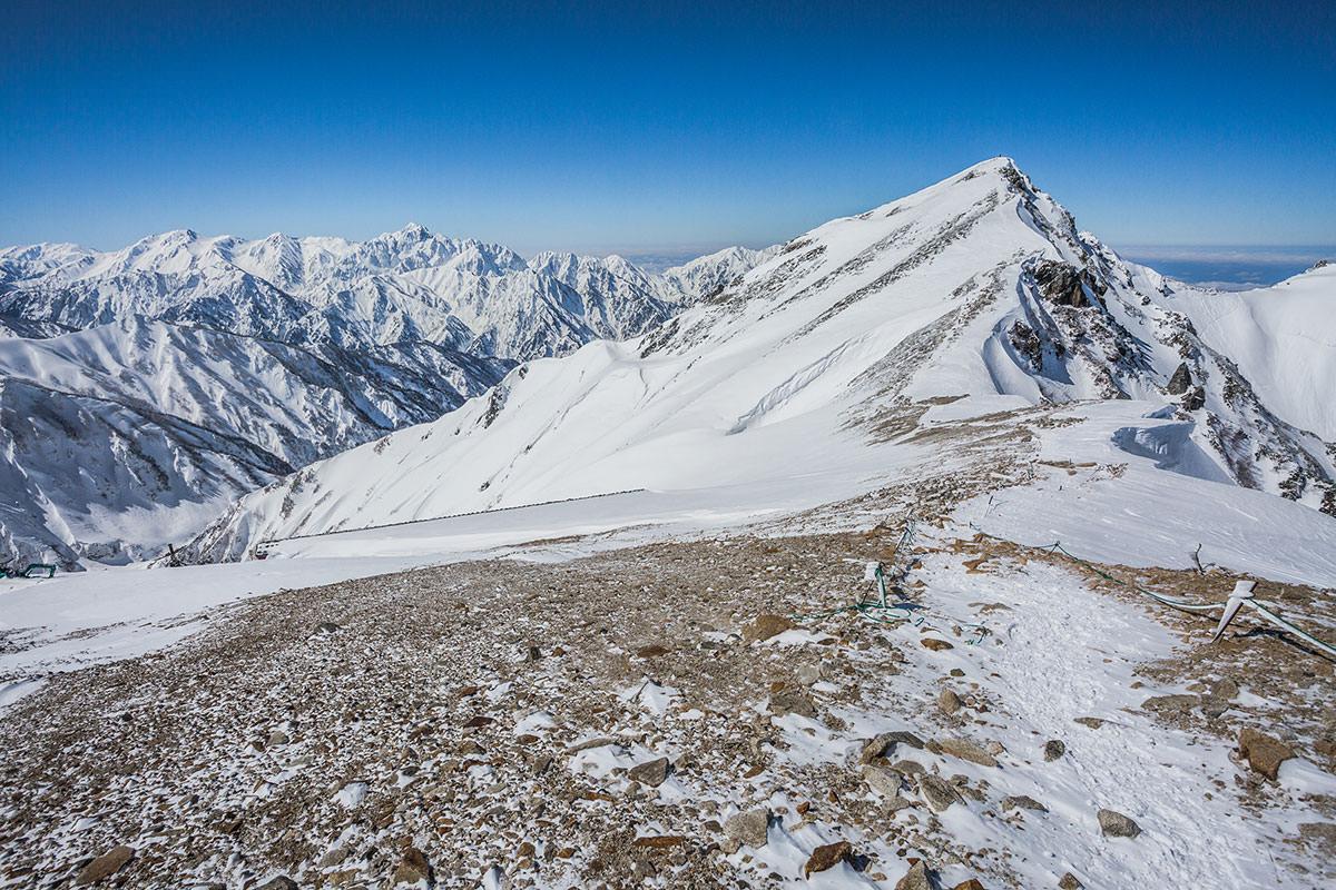 【唐松岳 八方尾根】登山百景-唐松岳がすぐそこ
