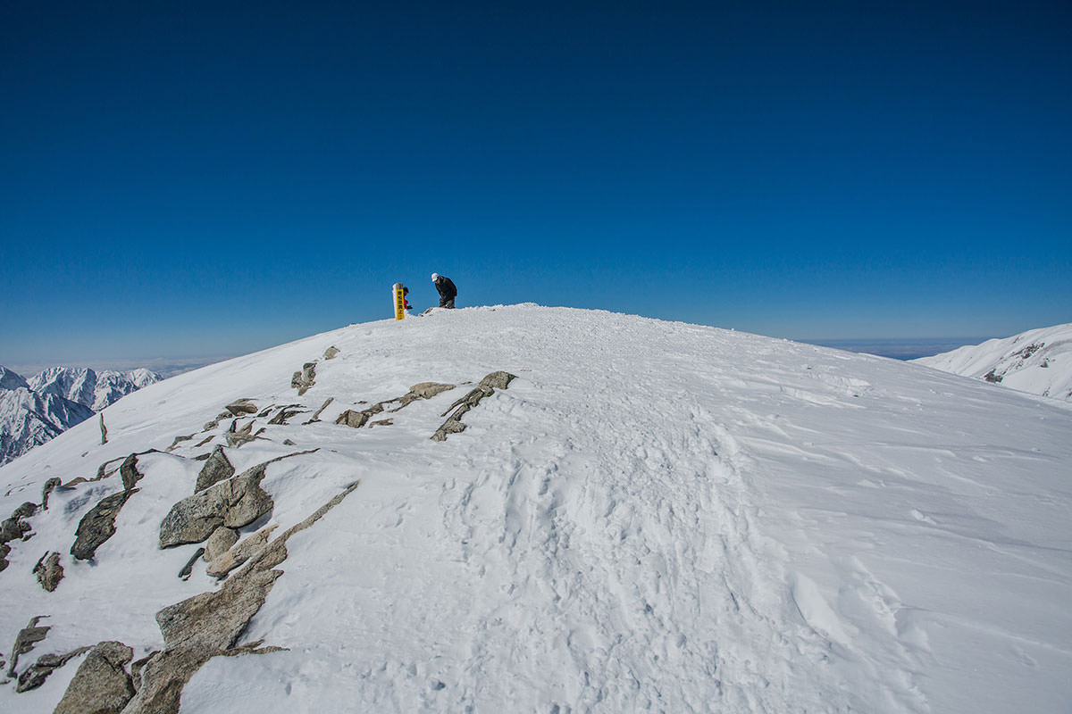 【唐松岳 八方尾根】登山百景-唐松岳の山頂に着いた