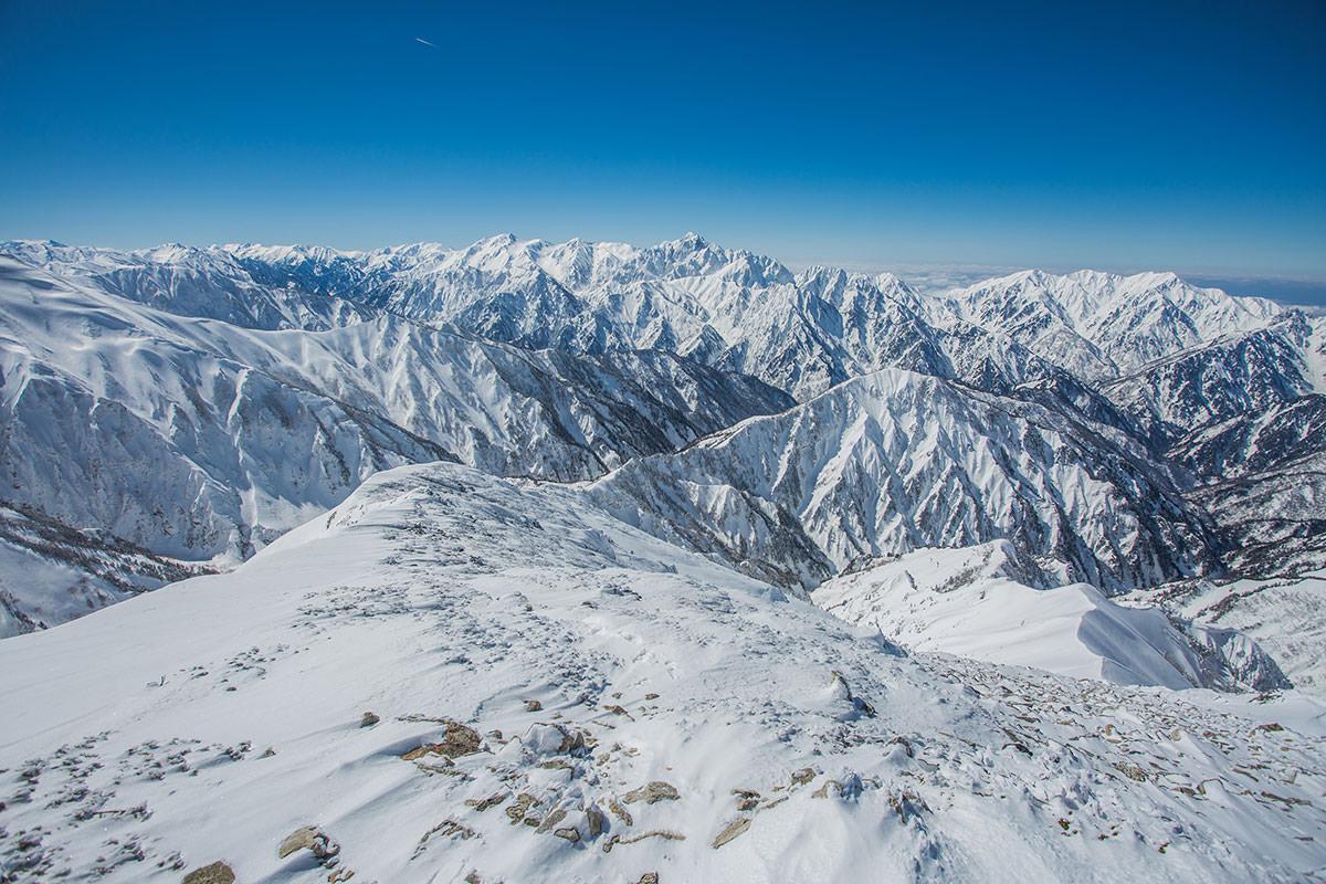 【唐松岳 八方尾根】登山百景-山頂から立山方面の景色