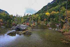明神池の水はキレイ