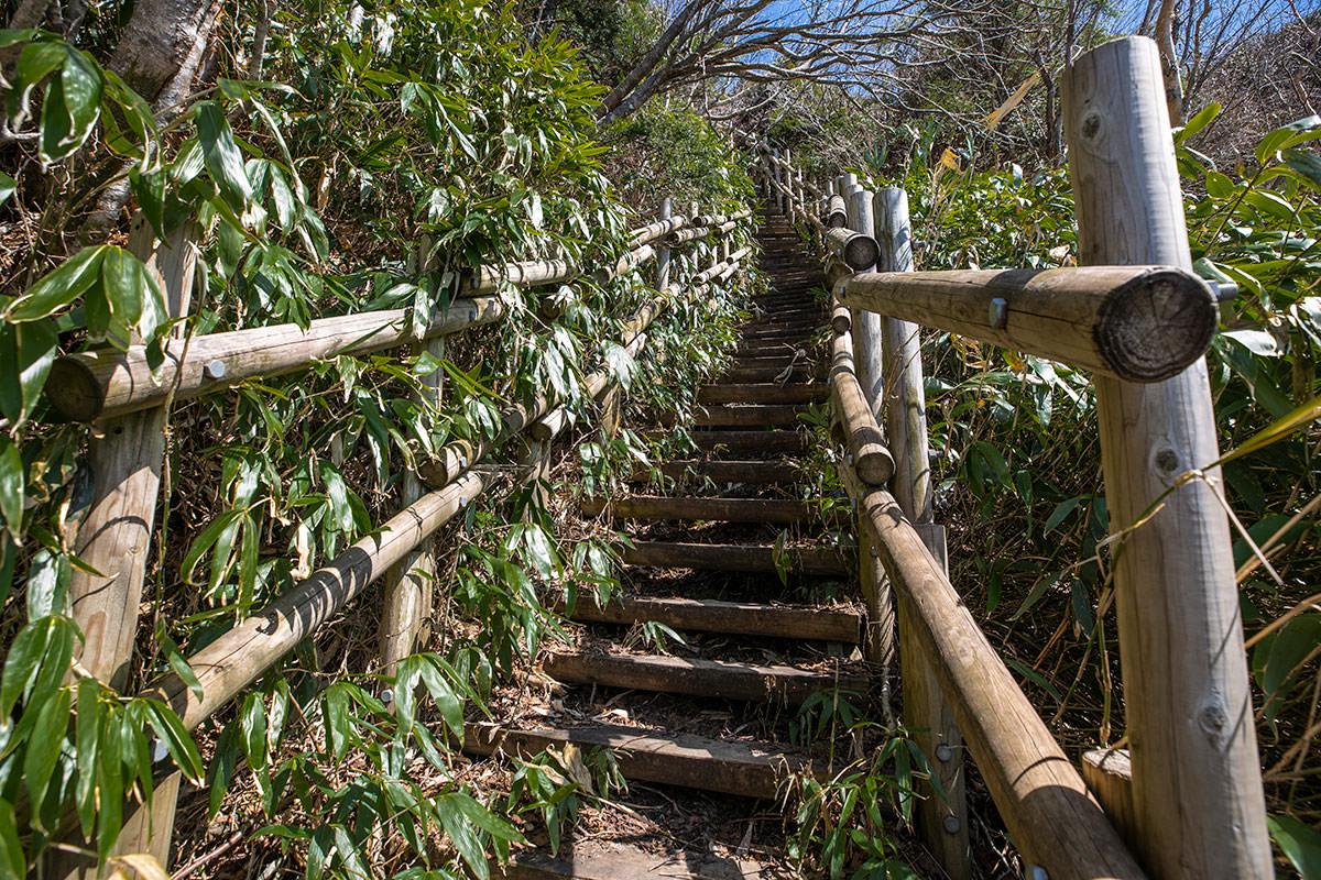 上に行くほど階段は急