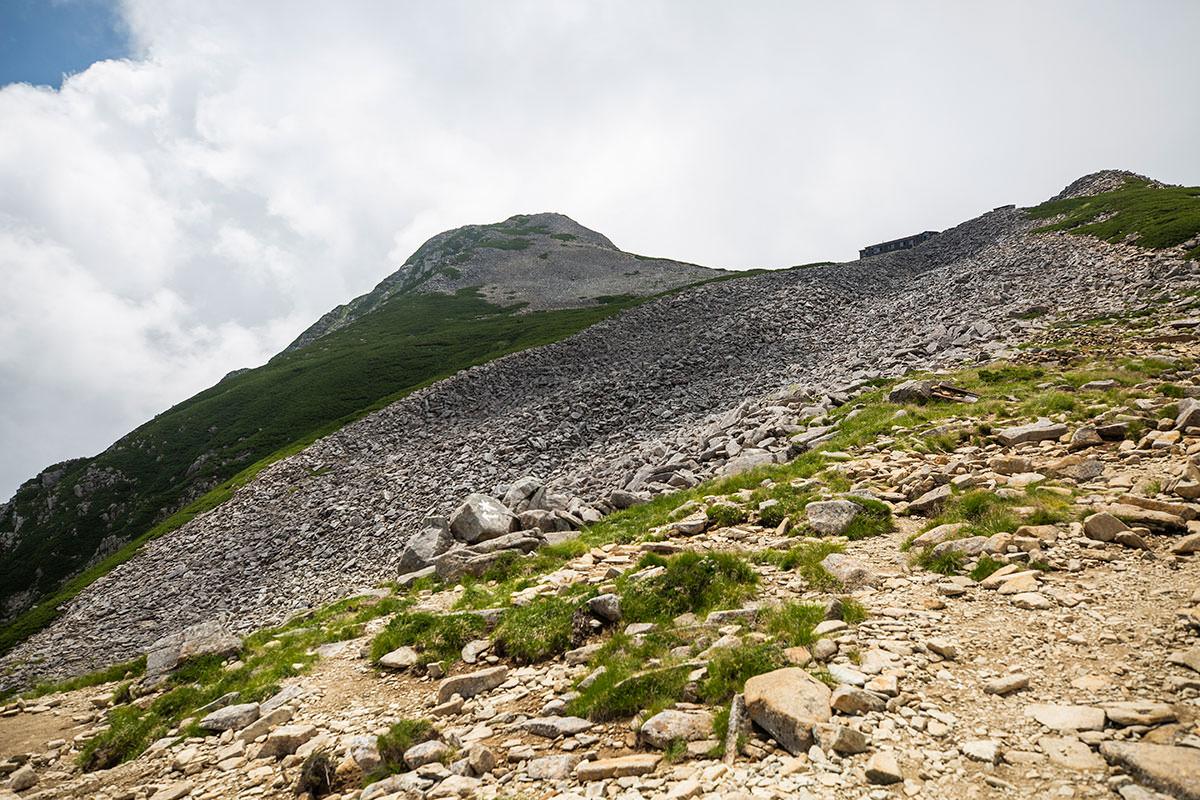 テント場から山頂がよく見える